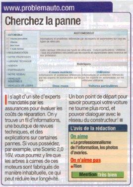 01net.com et Micro-hebdo accordent la mention «Très bien» à Problemauto